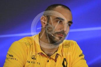 World © Octane Photographic Ltd. Formula 1 - Abu Dhabi Grand Prix – Friday Team Press Conference – Part 2. Cyril Abiteboul - Managing Director of Renault Sport Racing Formula 1. Yas Marina Circuit, Abu Dhabi. Friday 24th November 2017. Digital Ref: