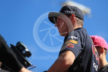 World © Octane Photographic Ltd. Formula 1 - American Grand Prix - Sunday - Drivers Parade. Max Verstappen - Red Bull Racing. Circuit of the Americas, Austin, Texas, USA. Sunday 22nd October 2017. Digital Ref: 1993LB1D8809