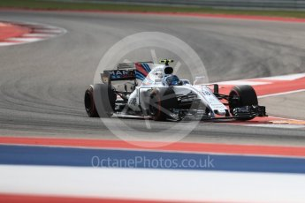World © Octane Photographic Ltd. Formula 1 - American Grand Prix - Friday - Practice 2. Lance Stroll - Williams Martini Racing FW40. Circuit of the Americas, Austin, Texas, USA. Friday 20th October 2017. Digital Ref: 1987LB1D4489