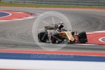 World © Octane Photographic Ltd. Formula 1 - American Grand Prix - Friday - Practice 2. Nico Hulkenberg - Renault Sport F1 Team R.S.17. Circuit of the Americas, Austin, Texas, USA. Friday 20th October 2017. Digital Ref: 1987LB1D4554