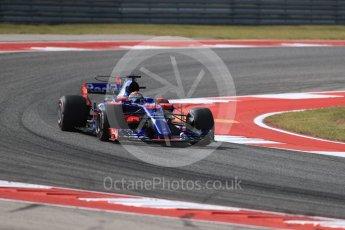 World © Octane Photographic Ltd. Formula 1 - American Grand Prix - Friday - Practice 2. Brendon Hartley - Scuderia Toro Rosso STR12. Circuit of the Americas, Austin, Texas, USA. Friday 20th October 2017. Digital Ref: 1987LB1D4675