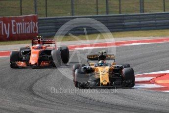 World © Octane Photographic Ltd. Formula 1 - American Grand Prix - Friday - Practice 2. Carlos Sainz - Renault Sport F1 Team R.S.17. Circuit of the Americas, Austin, Texas, USA. Friday 20th October 2017. Digital Ref: 1987LB1D4745