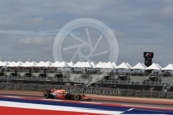 World © Octane Photographic Ltd. Formula 1 - American Grand Prix - Friday - Practice 2. Max Verstappen - Red Bull Racing RB13. Circuit of the Americas, Austin, Texas, USA. Friday 20th October 2017. Digital Ref: 1987LB2D6139