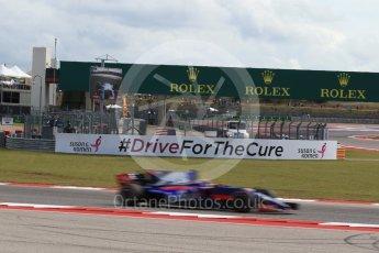 World © Octane Photographic Ltd. Formula 1 - American Grand Prix - Friday - Practice 2. Brendon Hartley - Scuderia Toro Rosso STR12. Circuit of the Americas, Austin, Texas, USA. Friday 20th October 2017. Digital Ref: 1987LB2D6442