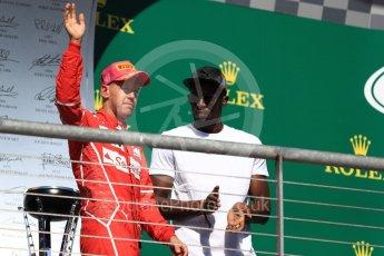 World © Octane Photographic Ltd. Formula 1 - American Grand Prix - Sunday - Race Podium. Sebastian Vettel - Scuderia Ferrari SF70H. Circuit of the Americas, Austin, Texas, USA. Sunday 22nd October 2017. Digital Ref: 1995LB1D0413