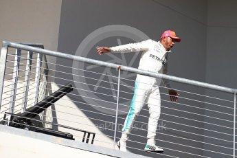 World © Octane Photographic Ltd. Formula 1 - American Grand Prix - Sunday - Race Podium. Lewis Hamilton - Mercedes AMG Petronas F1 W08 EQ Energy+. Circuit of the Americas, Austin, Texas, USA. Sunday 22nd October 2017. Digital Ref: 1995LB1D0445