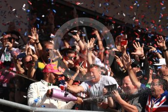 World © Octane Photographic Ltd. Formula 1 - American Grand Prix - Sunday - Race Podium. Lewis Hamilton - Mercedes AMG Petronas F1 W08 EQ Energy+. Circuit of the Americas, Austin, Texas, USA. Sunday 22nd October 2017. Digital Ref: 1995LB1D0846