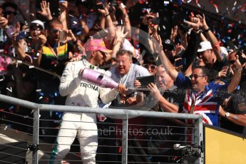 World © Octane Photographic Ltd. Formula 1 - American Grand Prix - Sunday - Race Podium. Lewis Hamilton - Mercedes AMG Petronas F1 W08 EQ Energy+. Circuit of the Americas, Austin, Texas, USA. Sunday 22nd October 2017. Digital Ref: 1995LB1D0854