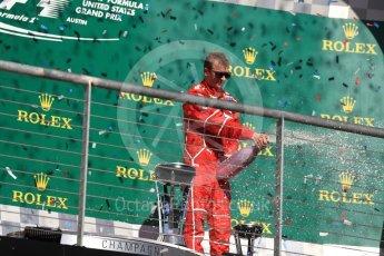 World © Octane Photographic Ltd. Formula 1 - American Grand Prix - Sunday - Race Podium. Kimi Raikkonen - Scuderia Ferrari SF70H. Circuit of the Americas, Austin, Texas, USA. Sunday 22nd October 2017. Digital Ref: 1995LB1D0873