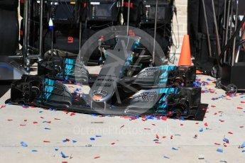 World © Octane Photographic Ltd. Formula 1 - American Grand Prix - Sunday - Race Podium. Spares of Mercedes AMG Petronas F1 W08 EQ Energy+. Circuit of the Americas, Austin, Texas, USA. Sunday 22nd October 2017. Digital Ref: 1995LB1D1305
