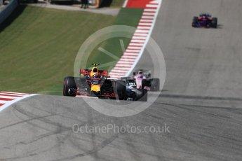 World © Octane Photographic Ltd. Formula 1 - American Grand Prix - Sunday - Race. Max Verstappen - Red Bull Racing RB13. Circuit of the Americas, Austin, Texas, USA. Sunday 22nd October 2017. Digital Ref: 1994LB1D9593