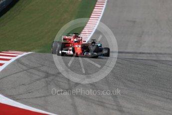 World © Octane Photographic Ltd. Formula 1 - American Grand Prix - Sunday - Race. Sebastian Vettel - Scuderia Ferrari SF70H. Circuit of the Americas, Austin, Texas, USA. Sunday 22nd October 2017. Digital Ref: 1994LB1D9662