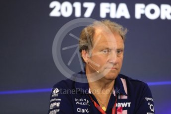 World © Octane Photographic Ltd. Formula 1 - American Grand Prix – Friday Team Press Conference. Robert Fernley - Deputy Team Principal of Sahara Force India. Circuit of the Americas, Austin, Texas, USA. Friday 20th October 2017. Digital Ref: 1988LB1D5415