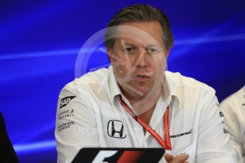 World © Octane Photographic Ltd. Formula 1 - American Grand Prix – Friday Team Press Conference. Zak Brown - Executive Director of McLaren Technology Group. Circuit of the Americas, Austin, Texas, USA. Friday 20th October 2017. Digital Ref: 1988LB1D5421