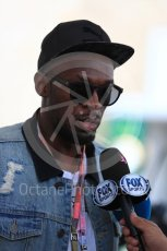 World © Octane Photographic Ltd. Formula 1 - American Grand Prix - Sunday - Paddock. Usain Bolt meets with the media. Circuit of the Americas, Austin, Texas, USA. Sunday 22nd October 2017. Digital Ref: 1992LB1D8280