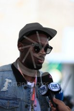 World © Octane Photographic Ltd. Formula 1 - American Grand Prix - Sunday - Paddock. Usain Bolt meets with the media. Circuit of the Americas, Austin, Texas, USA. Sunday 22nd October 2017. Digital Ref: 1992LB1D8287