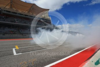 World © Octane Photographic Ltd. Formula 1 - American Grand Prix - Sunday - Paddock. Lewis Hamilton takes Usain Bolt on a Hot Lap of COTA. Circuit of the Americas, Austin, Texas, USA. Sunday 22nd October 2017. Digital Ref: 1992LB2D6952