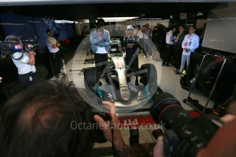 World © Octane Photographic Ltd. Formula 1 - American Grand Prix - Sunday - Paddock. Lewis Hamilton takes Usain Bolt on a Hot Lap of COTA. Circuit of the Americas, Austin, Texas, USA. Sunday 22nd October 2017. Digital Ref: 1992LB2D7035