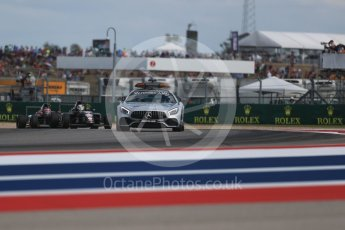 World © Octane Photographic Ltd. Formula 4 – F4 United States Championship - American Grand Prix – Race 1. Circuit of the Americas (COTA), Austin, Texas, USA. Saturday 21st October 2017. Kyle Kirkwood - Cape Motorsports behind the F1 Mercedes safety car. Digital Ref:1982LB1D6808