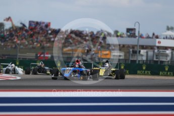 World © Octane Photographic Ltd. Formula 4 – F4 United States Championship - American Grand Prix – Race 1. Circuit of the Americas (COTA), Austin, Texas, USA. Saturday 21st October 2017. Brendon Leitch - Kiwi Motorsport LTD and Braden Eves - Jay Howard's MDD. Digital Ref:1982LB1D6937
