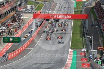 World © Octane Photographic Ltd. Formula 1 - Austria Grand Prix - Sunday - Race. Valtteri Bottas - Mercedes AMG Petronas F1 W08 EQ Energy+ leads race start. Red Bull Ring, Spielberg, Austria. Sunday 9th July 2017. Digital Ref: 1875LB1D4775