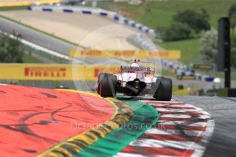 World © Octane Photographic Ltd. Formula 1 - Austria Grand Prix - Sunday - Race. Esteban Ocon - Sahara Force India VJM10. Red Bull Ring, Spielberg, Austria. Sunday 9th July 2017. Digital Ref: 1875LB1D5119