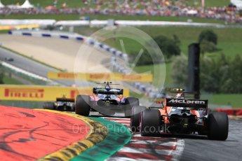 World © Octane Photographic Ltd. Formula 1 - Austria Grand Prix - Sunday - Race. Carlos Sainz - Scuderia Toro Rosso STR12. Red Bull Ring, Spielberg, Austria. Sunday 9th July 2017. Digital Ref: 1875LB1D5162
