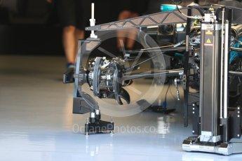 World © Octane Photographic Ltd. Formula 1 - Austria Grand Prix - Thursday - Pit Lane. Mercedes AMG Petronas F1 W08 EQ Energy+. Red Bull Ring, Spielberg, Austria. Thursday 6th July 2017. Digital Ref: 1861LB1D8964