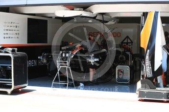 World © Octane Photographic Ltd. Formula 1 - Austria Grand Prix - Thursday - Pit Lane. McLaren Honda MCL32. Red Bull Ring, Spielberg, Austria. Thursday 6th July 2017. Digital Ref: 1861LB1D9024