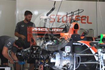 World © Octane Photographic Ltd. Formula 1 - Austria Grand Prix - Thursday - Pit Lane. McLaren Honda MCL32. Red Bull Ring, Spielberg, Austria. Thursday 6th July 2017. Digital Ref: 1861LB1D9046