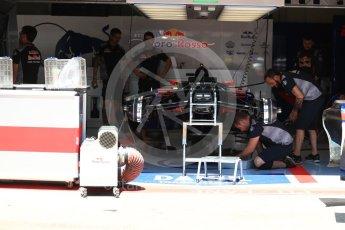 World © Octane Photographic Ltd. Formula 1 - Austria Grand Prix - Thursday - Pit Lane. Scuderia Toro Rosso STR12. Red Bull Ring, Spielberg, Austria. Thursday 6th July 2017. Digital Ref: 1861LB1D9062