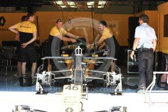 World © Octane Photographic Ltd. Formula 1 - Austria Grand Prix - Thursday - Pit Lane. Renault Sport F1 Team R.S.17. Red Bull Ring, Spielberg, Austria. Thursday 6th July 2017. Digital Ref: 1861LB1D9120