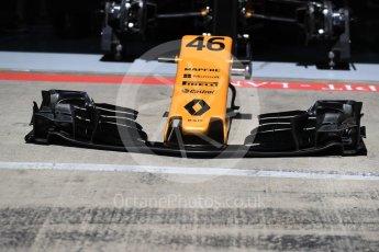 World © Octane Photographic Ltd. Formula 1 - Austria Grand Prix - Thursday - Pit Lane. Renault Sport F1 Team R.S.17. Red Bull Ring, Spielberg, Austria. Thursday 6th July 2017. Digital Ref: 1861LB1D9124