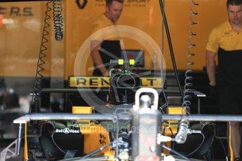World © Octane Photographic Ltd. Formula 1 - Austria Grand Prix - Thursday - Pit Lane. Renault Sport F1 Team R.S.17. Red Bull Ring, Spielberg, Austria. Thursday 6th July 2017. Digital Ref: 1861LB1D9129