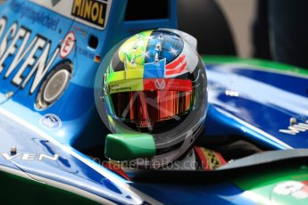 World © Octane Photographic Ltd. Formula 1 - Belgian Grand Prix - Sunday Demo Laps. Mick Schumacher driving his father's (Michael Schumacher) 1st championship winning Benetton Ford B194 on the 25th Anniversary of his 1st win. Circuit de Francorchamps, Belgium. Sunday 27th August 2017. Digital Ref:1932LB1D8104