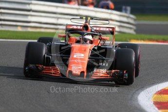 World © Octane Photographic Ltd. Formula 1 - Belgian Grand Prix - Friday - Practice 1. Stoffel Vandoorne - McLaren Honda MCL32. Circuit de Francorchamps, Belgium. Friday 25th August 2017. Digital Ref:1922LB1D4769