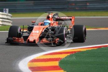 World © Octane Photographic Ltd. Formula 1 - Belgian Grand Prix - Friday - Practice 1. Fernando Alonso - McLaren Honda MCL32. Circuit de Francorchamps, Belgium. Friday 25th August 2017. Digital Ref:1922LB1D4890