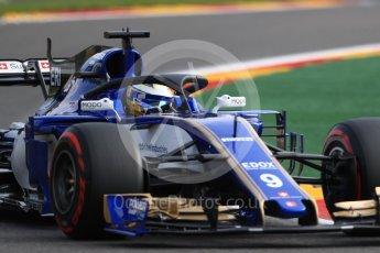 World © Octane Photographic Ltd. Formula 1 - Belgian Grand Prix - Friday - Practice 1. Marcus Ericsson – Sauber F1 Team C36 with Halo. Circuit de Francorchamps, Belgium. Friday 25th August 2017. Digital Ref:1922LB1D4910