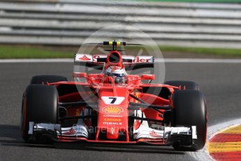 World © Octane Photographic Ltd. Formula 1 - Belgian Grand Prix - Friday - Practice 1. Kimi Raikkonen - Scuderia Ferrari SF70H. Circuit de Spa Francorchamps, Belgium. Friday 25th August 2017. Digital Ref:1922LB1D5055