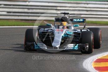 World © Octane Photographic Ltd. Formula 1 - Belgian Grand Prix - Friday - Practice 1. Lewis Hamilton - Mercedes AMG Petronas F1 W08 EQ Energy+. Circuit de Spa Francorchamps, Belgium. Friday 25th August 2017. Digital Ref:1922LB1D5086