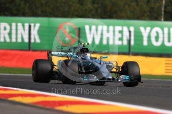 World © Octane Photographic Ltd. Formula 1 - Belgian Grand Prix - Friday - Practice 1. Valtteri Bottas - Mercedes AMG Petronas F1 W08 EQ Energy+. Circuit de Spa Francorchamps, Belgium. Friday 25th August 2017. Digital Ref:1922LB1D5236