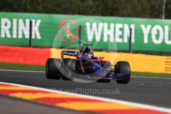 World © Octane Photographic Ltd. Formula 1 - Belgian Grand Prix - Friday - Practice 1. Daniil Kvyat - Scuderia Toro Rosso STR12. Circuit de Spa Francorchamps, Belgium. Friday 25th August 2017. Digital Ref:1922LB1D5251