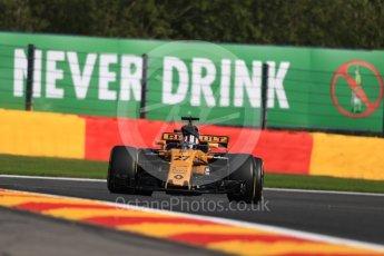 World © Octane Photographic Ltd. Formula 1 - Belgian Grand Prix - Friday - Practice 1. Nico Hulkenberg - Renault Sport F1 Team R.S.17. Circuit de Francorchamps, Belgium. Friday 25th August 2017. Digital Ref:1922LB1D5281