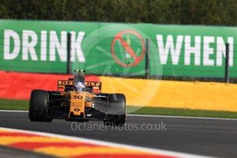 World © Octane Photographic Ltd. Formula 1 - Belgian Grand Prix - Friday - Practice 1. Jolyon Palmer - Renault Sport F1 Team R.S.17. Circuit de Francorchamps, Belgium. Friday 25th August 2017. Digital Ref:1922LB1D5288