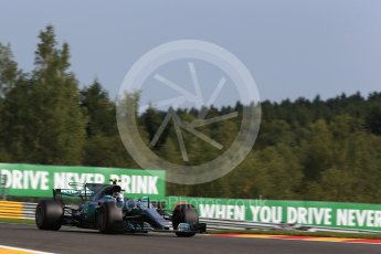 World © Octane Photographic Ltd. Formula 1 - Belgian Grand Prix - Friday - Practice 1. Valtteri Bottas - Mercedes AMG Petronas F1 W08 EQ Energy+. Circuit de Spa Francorchamps, Belgium. Friday 25th August 2017. Digital Ref:1922LB2D5782