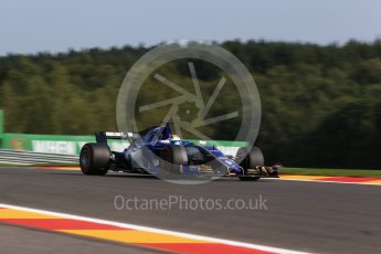 World © Octane Photographic Ltd. Formula 1 - Belgian Grand Prix - Friday - Practice 1. Marcus Ericsson – Sauber F1 Team C36. Circuit de Francorchamps, Belgium. Friday 25th August 2017. Digital Ref:1922LB2D5812