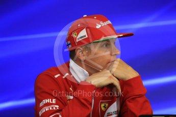 World © Octane Photographic Ltd. Formula 1 - Belgian Grand Prix – Thursday Driver Press Conference – Part 2. Kimi Raikkonen - Scuderia Ferrari. Circuit de Francorchamps, Belgium. Thursday 24th August 2017. Digital Ref: 1919LB1D4476