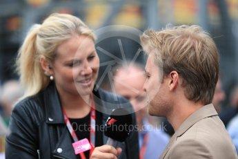 World © Octane Photographic Ltd. Formula 1 - British Grand Prix - Sunday - Grid. Nico Rosberg. Silverstone, UK. Sunday 16th July 2017. Digital Ref: 1891LB1D3627