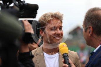 World © Octane Photographic Ltd. Formula 1 - British Grand Prix - Sunday - Grid. Nico Rosberg. Silverstone, UK. Sunday 16th July 2017. Digital Ref: 1891LB1D3660