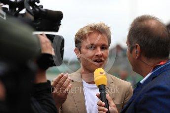 World © Octane Photographic Ltd. Formula 1 - British Grand Prix - Sunday - Grid. Nico Rosberg. Silverstone, UK. Sunday 16th July 2017. Digital Ref: 1891LB1D3666
